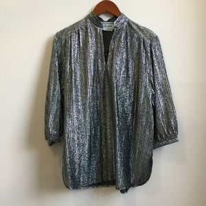 Vintage 70s Metallic Disco Shirt